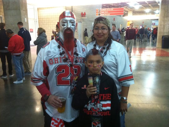 Ohio State fan Mike Cochran drove 14 hours from Killeen,