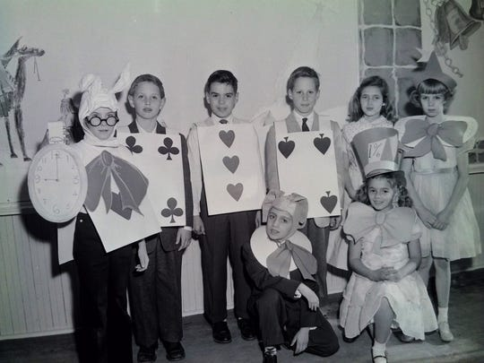 A 1956 Christmas Party at Oak and Main School.