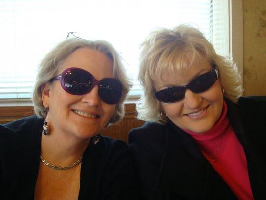 Wilma Bittinger, left, poses with her daughter Deborah