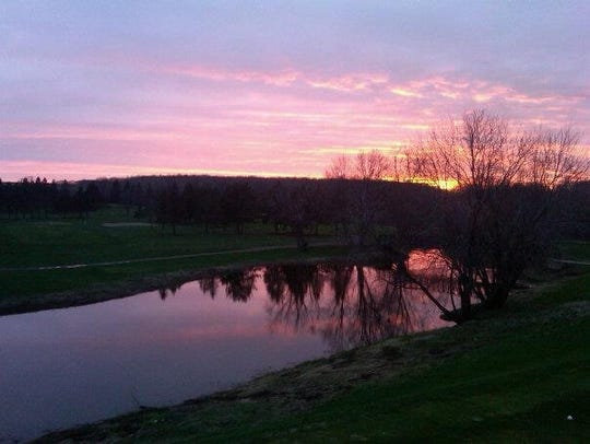 Sunset over RiverEdge Golf Course.