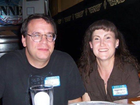 Chris Reidy (left) and Mary Jo Reidy (right).