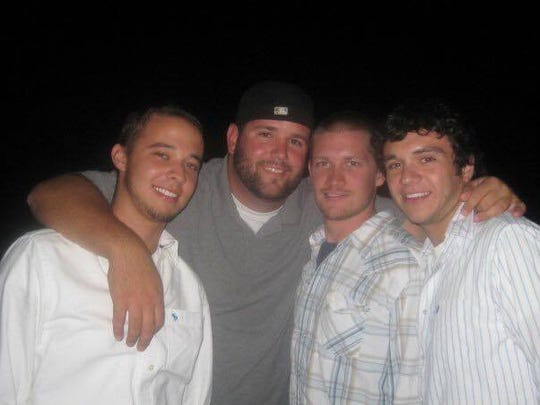 Sonny Melton with friends