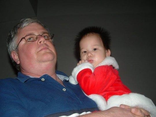 David Venner with daughter Marley as a baby.
