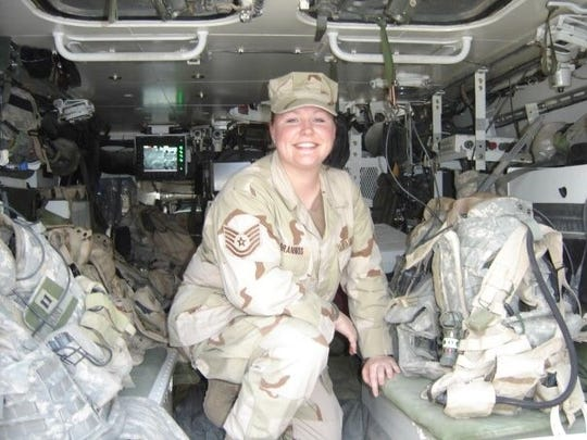 Elesha Granniss retired from the U.S. Air Force, where she served as a Health Services Management Senior Non-Commissioned Officer. This photo was taken around 2000, when she deployed to Prince Sultan Air Base, Saudi Arabia, in support of Operation Southern Watch. Later, in 2006, she deployed to Sather Air Base, Iraq, in support of Operation Iraqi Freedom.