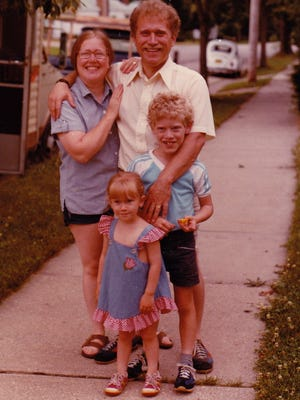 An undated photo of Patricia and Jim DeCaro with their children, Tate and Jason.
