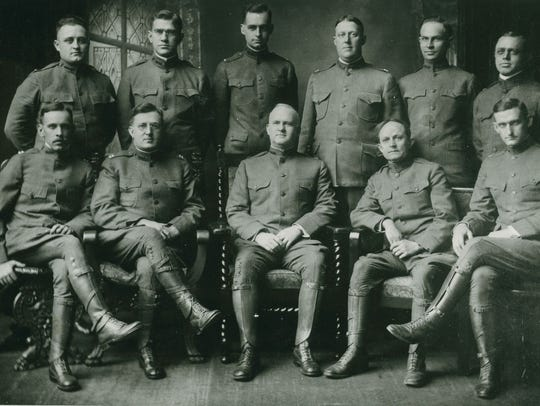 Officers of Hospital Unit S during World War I: R.