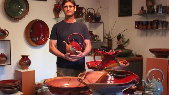 Alan Higinbotham will show his wheel-thrown high-fired porcelain pottery at the 2015 Salem Art Fair and Festival.
