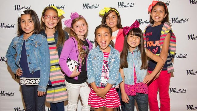 Young models part of a Westfield Palm Desert back-to-school fashion show.