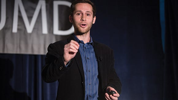 The University of Maryland hosted a TEDx event in the CP Marriott Hotel Conference Center on May 3, 2015 (Photo courtesy of Dr. Dylan Selterman)