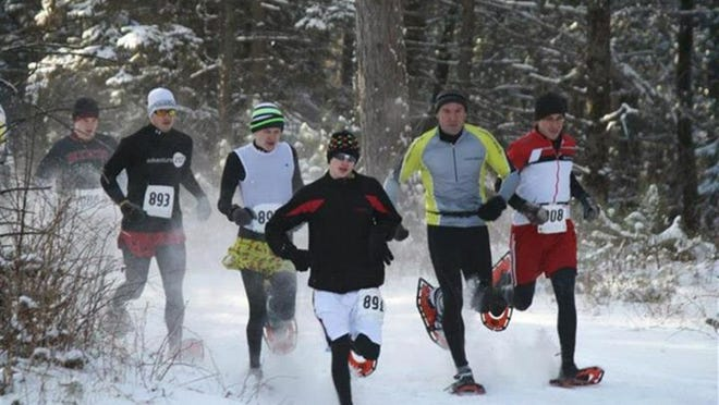 Mosquito Hill Nature Center will host snowshoe races on Saturday.