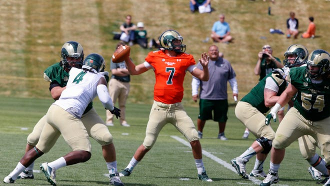 Colorado State University Football Spring Scrimmage at the Denver Broncos training facility in Dove Valley