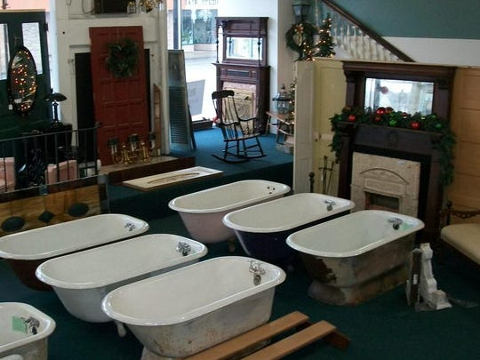 Tubs of all shapes and sizes are among the offerings at ReHouse Architectural Salvage in Rochester.