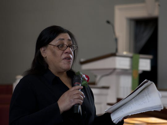 Hollie Saunders leads the 2016 MLK service at the First Presbyterian Church in Lancaster. The 2019 edition of the service will be 1 p.m. Monday at the same church