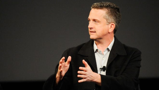 "Writer Bill Simmons speaks at the panel and screening of ""Beyond Playing The Field"" during the 2010 Tribeca Film Festival  at the School of Visual Arts Theater on April 24, 2010 in New York City."