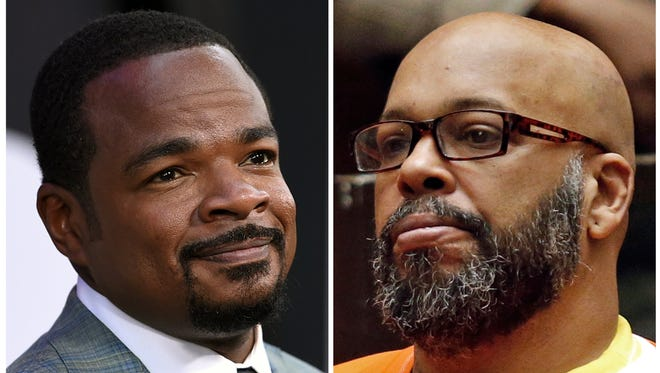 This combination photo shows 'Straight Outta Compton' director F. Gary Gray and Suge Knight, who pleaded not guilty to allegations that he threatened Gray.