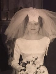Georgia Buchanan's 1963 wedding gown, with its bateau