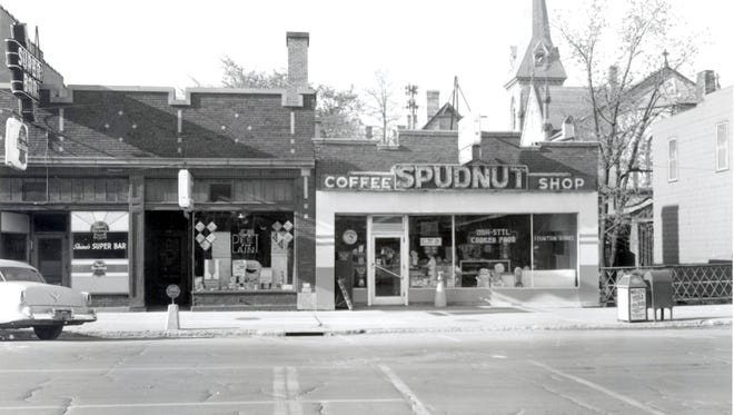 Spudnut Coffee Shop was at 347 W. College Ave. in Appleton. Today, the building site is part of D2's outdoor patio.