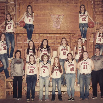 The Simms girls' basketball includes assistant coach