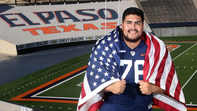 UTEP lineman Will Hernandez, an All-American Third Team selection.