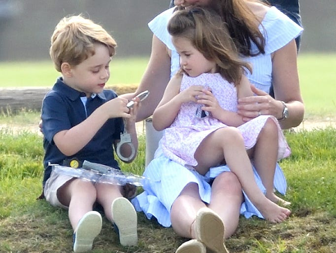 Princess Charlotte and Prince George played on the