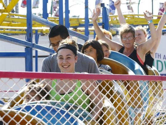 People enjoy riding Wisconsin Valley Fair's ride at