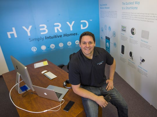 Harrison Rogers owns Hybryd, a tech-based home, office and lifestyle automation service that incorporates audio and visual technologies. September 27, 2016.