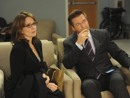 "Tina Fey and Alec Baldwin starred on NBC's ""30 Rock."""