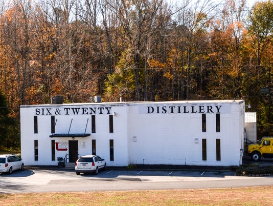 Six and Twenty Distillery in Powdersville.