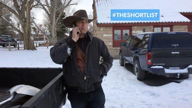 Ryan Bundy talks on the phone at the Malheur National Wildlife Refuge near Burns, Ore., on Jan. 3.