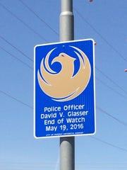 The memorial for fallen Phoenix police Officer David
