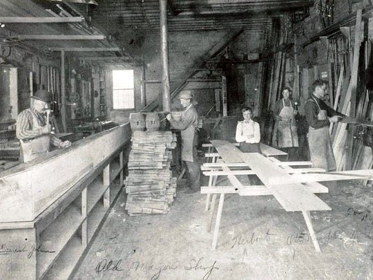 From 1855 to 1917, Jacob Jung, Sr., his sons and grandsons manufactured horse-drawn vehicles at the family carriage shop in Sheboygan, Wisconsin.  The Jung's business prospered for almost three generations, but at the end of the horse-drawn era, with the advent of the automobile, they were forced to close.
