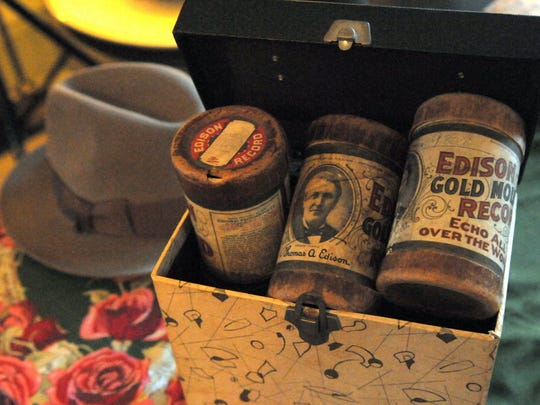 Wax record cylinders from the turn of the 20th century