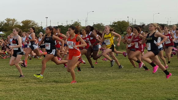 The start of the Region 1-5A race in Lubbock.