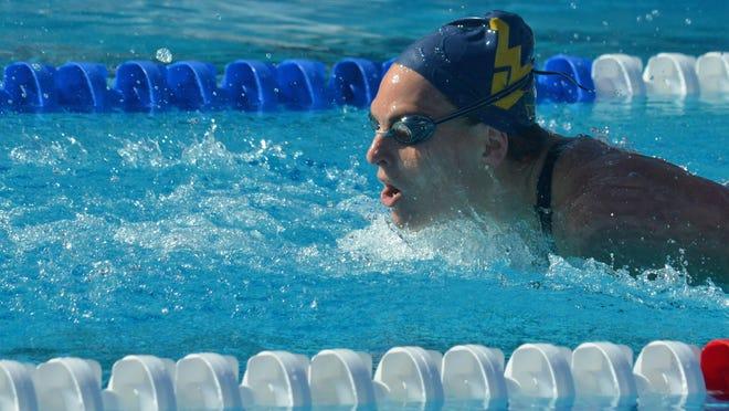 Morgan Bullock swims at the 2019 U.S. National Championships at Stanford.