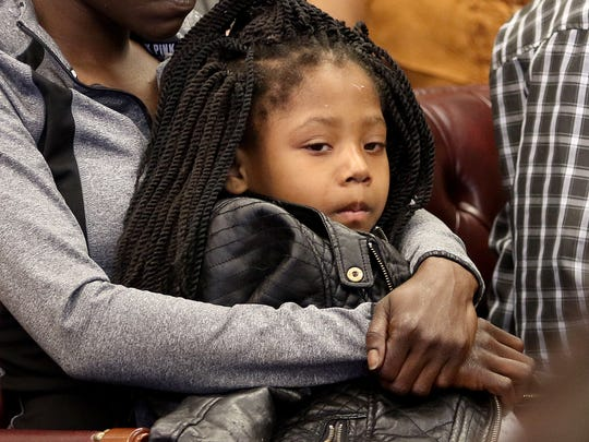 Samira DuBose, 4, is one of the late Sam DuBose's 13 children, each of whom is receiving $218,000 from the settlement over his death at the hands of a UC police officer. It was unfortunate to see her grandparents fighting over the money.