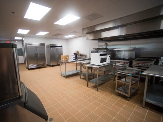 The kitchen inside Knox Area Rescue Ministry's newly renovated Serenity home in Knoxville on Tuesday, June 26, 2018.