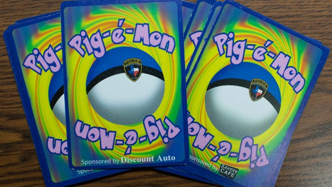 Aransas Pass Police Department designed department's Pigemon cards, modeled after popular Pokemon cards, to improve community outreach.