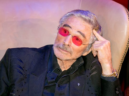 "The late Burt Reynolds is pictured at ""An Evening with"