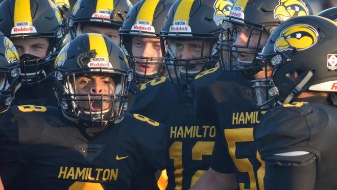 The Hamilton football team defeated Godwin Heights on Friday.
