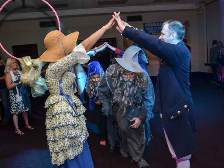 Costumed attendees enjoy the fun at Pensacon's inaugural