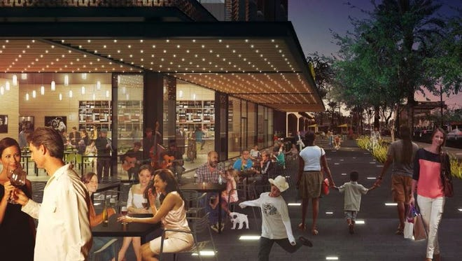 """The ground floor of the revamped development would include restaurants, shops or other """"active uses."""""""