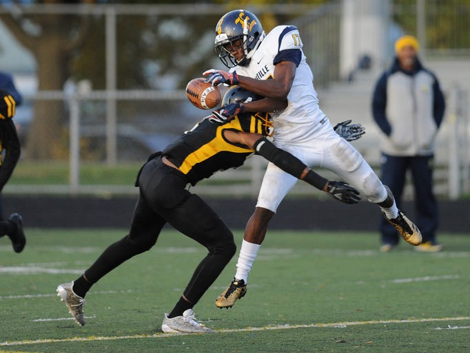 King defensive back Marvin Grant (4) hits East English
