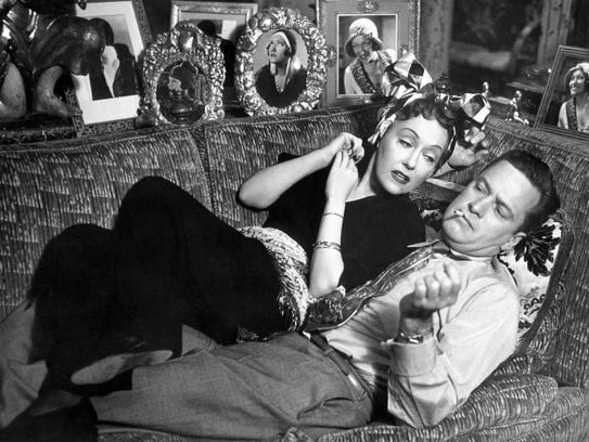Gloria Swanson and William Holden in 'Sunset Boulevard.'