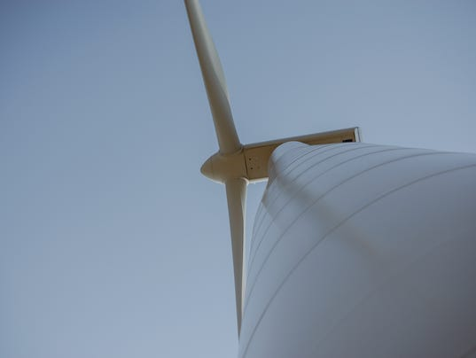 Windturbine at sunny day