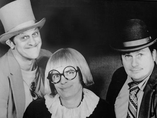 Vladimer Kwaitkowski as Ladmo, Pat McMahon as Gerald,  and Bill Thompson as Wallace  were the Wallace & Ladmo shown in this 1970's promotional photo.