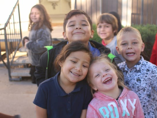 A group of Sequoia Lehi students are all smiles during