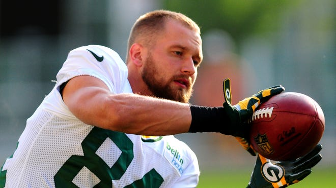 Green Bay Packers wide receiver Jared Abbrederis during training camp practice at Ray Nitschke Field, Thursday, July 31, 2014.