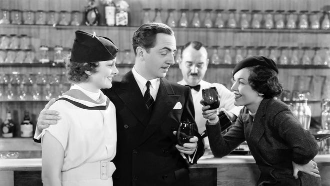 Myrna Loy and William Powell  play sleuthing couple Nick and Nora Charles in 'The Thin Man', directed by W S Van Dyke. Maureen O'Sullivan also stars.