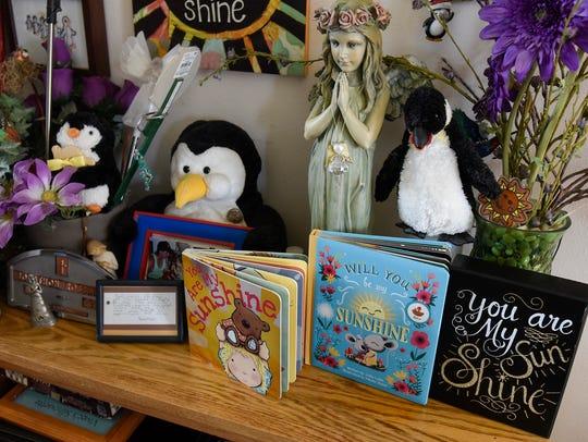 Many items in memory of Kathy Robbin's son Jonathon