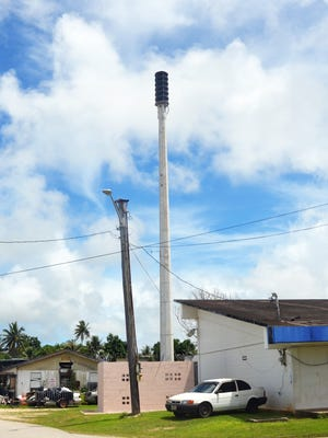 The All Hazards Alert Warning System siren located next to the Yona Mayor's Office is shown in this Sept. 6 file photo.